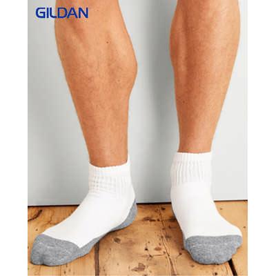 Gildan Platinum Mens Ankle Socks White